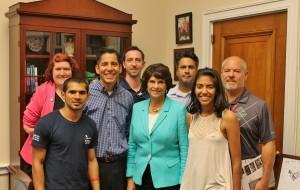 Photo with U.S. Congresswoman Lucille Roybal Allard
